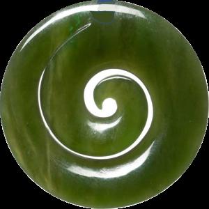 An image of New Zealand jade pendant