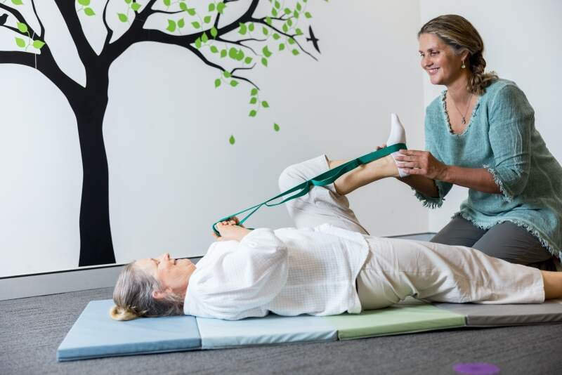Wendy Madgwick practicing physiotherapy