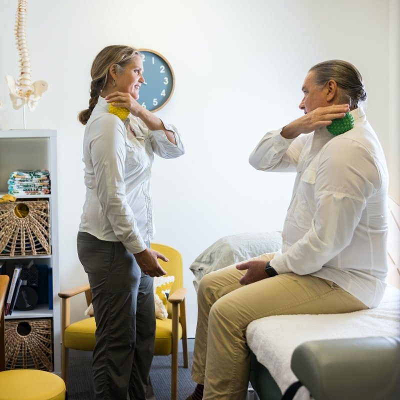 Wendy Madgwick practicing physiotherapy in Brisbane